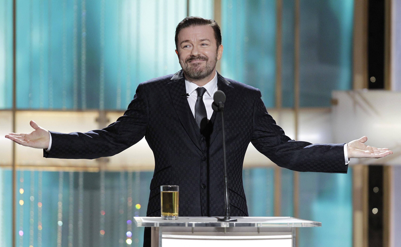 Ricky Gervais et les Golden Globes… une histoire  d'amour sans fin.